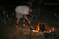 Campfire cooking on a Kimberley camping tour
