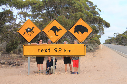 Nullarbor road sign