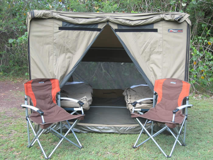 Kimberley camping tour tent set up